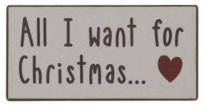 "Ib Laursen Magnet ""All I want for christmas"""